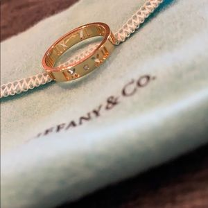 Tiffany & Co Rose Gold Atlas Pierce Ring